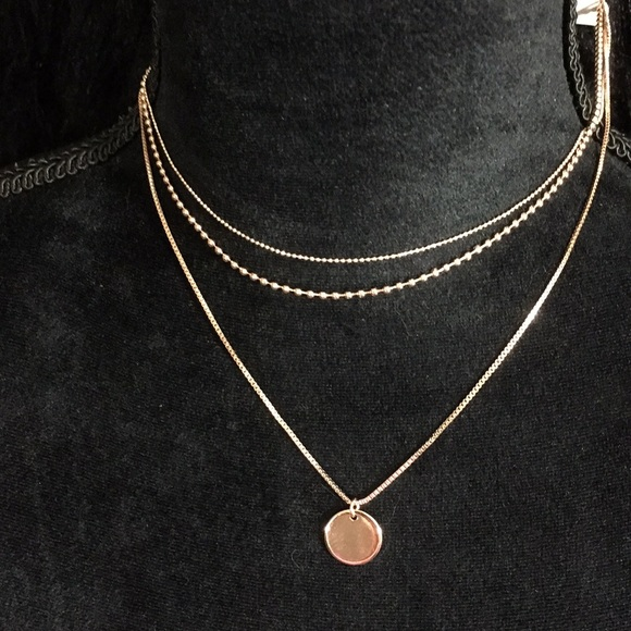91330dc8edfcb0 H&M Jewelry | Rose Gold Layered Necklace So Beautiful | Poshmark